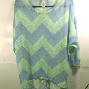 Vanilla Bay Hi-Low Sweatershirt Blouse L